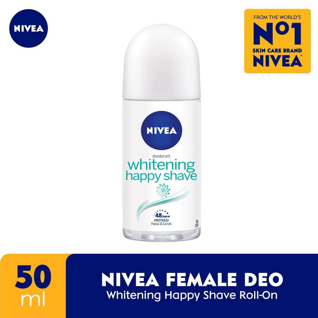 Nivea Deodorant Whitening Happy Shave Roll On 50ml