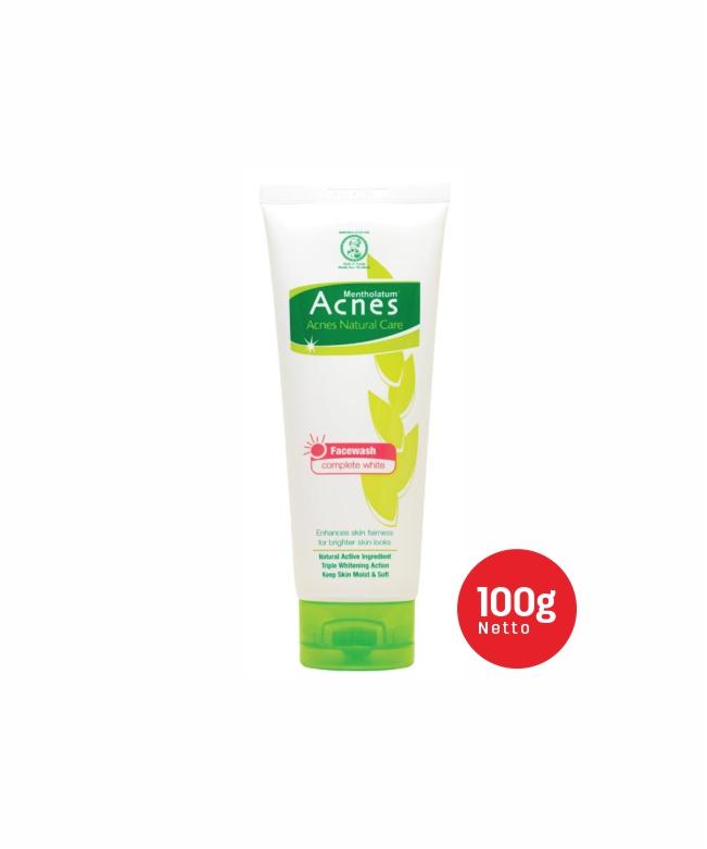 Acnes Natural Care Complete White Facewash 100g-2