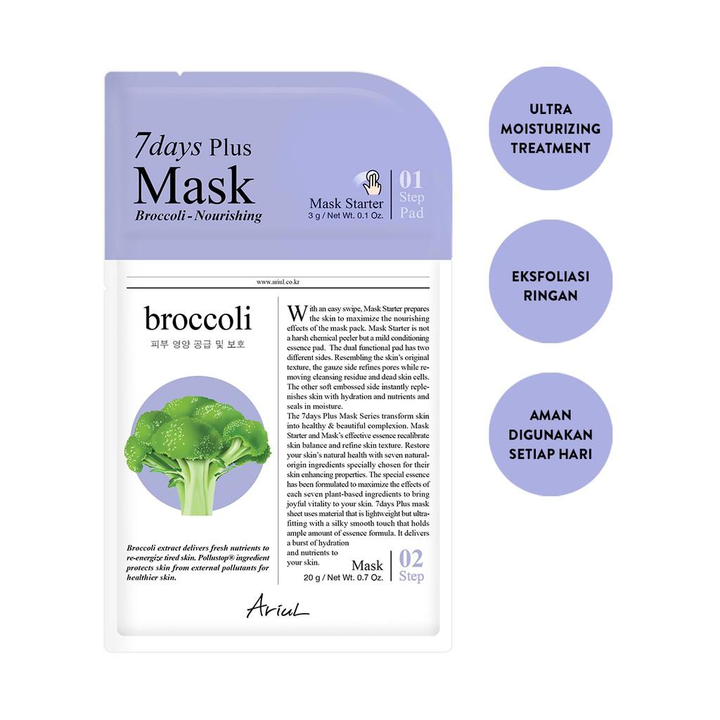 Ariul 7Days Plus Mask Broccolli 20gr-1