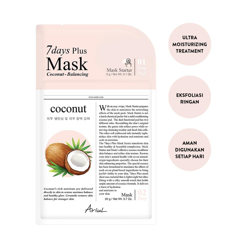 Ariul 7Days Plus Mask Coconut 20gr-1