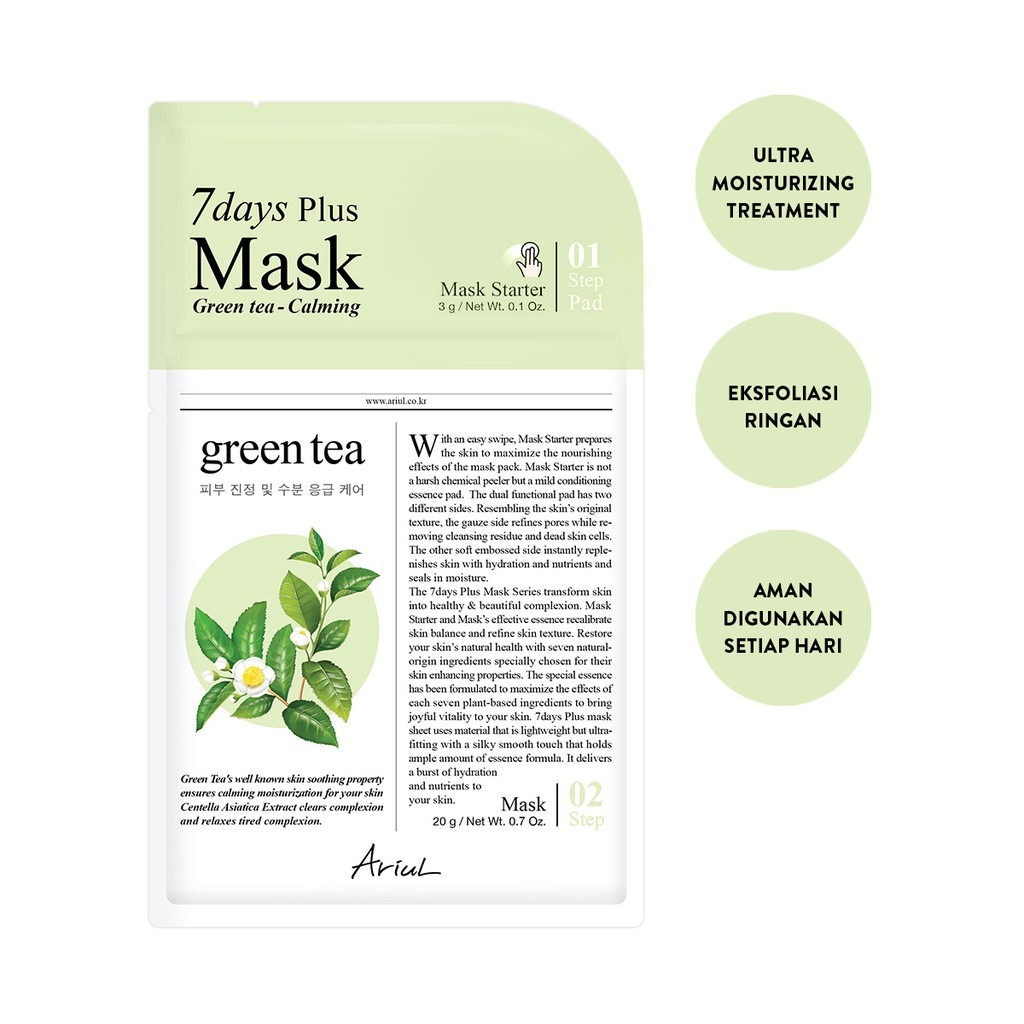 Ariul 7Days Plus Mask Green Tea 20gr-1