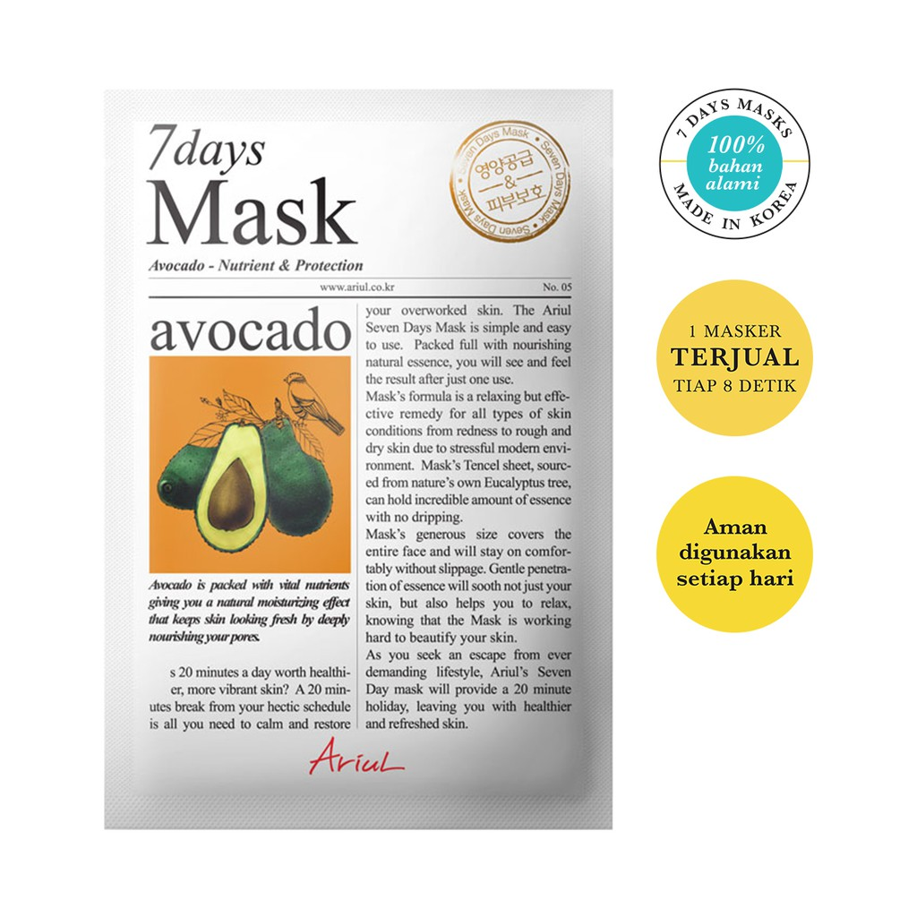 Ariul Mask 7Days Avocado 20gr-1