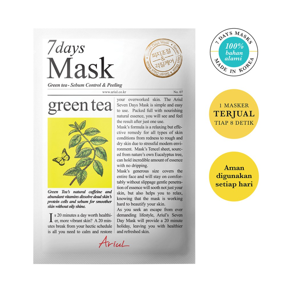 Ariul Mask 7days Green Tea 20gr-1