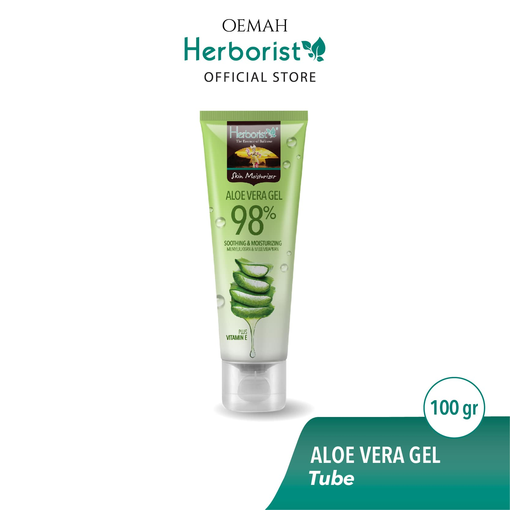 Herborist Aloe Vera Gel Tube 100gr