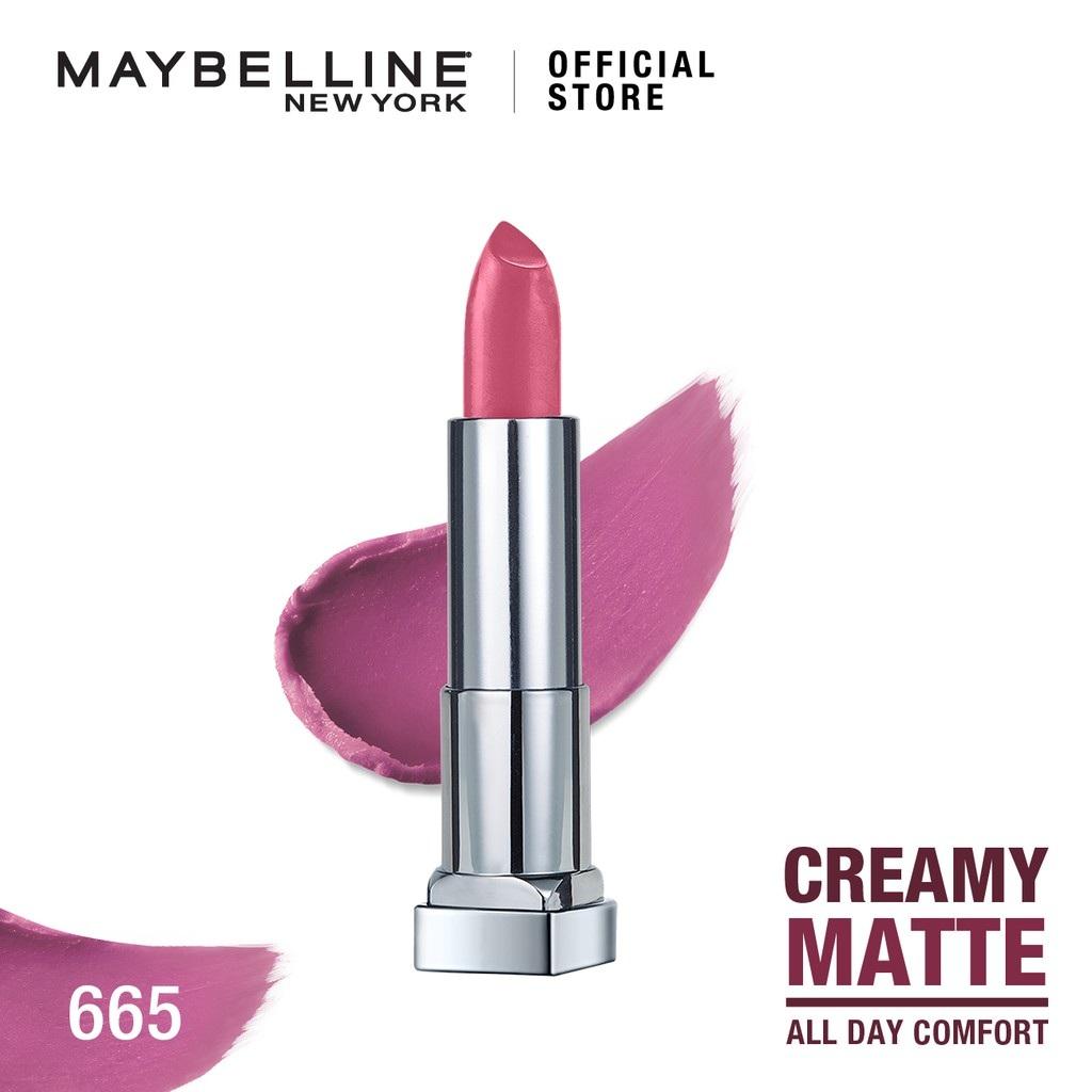 Maybelline Color Sensational Creamy Mattes Lipstick - 665 Lust For Blush