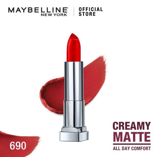 Maybelline Color Sensational Creamy Mattes Lipstick - 690 Siren Scarlet