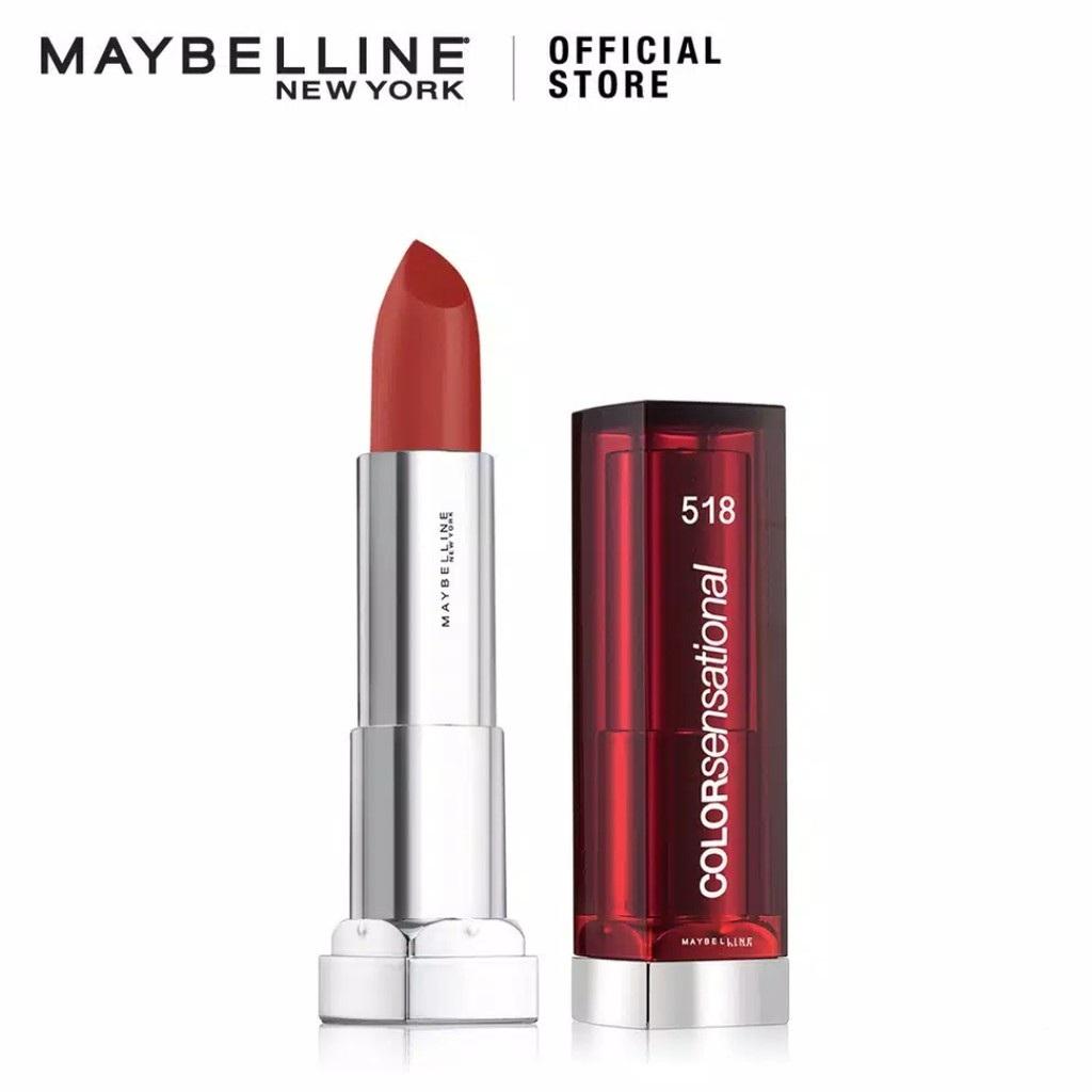 Maybelline Color Sensational Satin Lipstick Make Up 518 Chilionaire