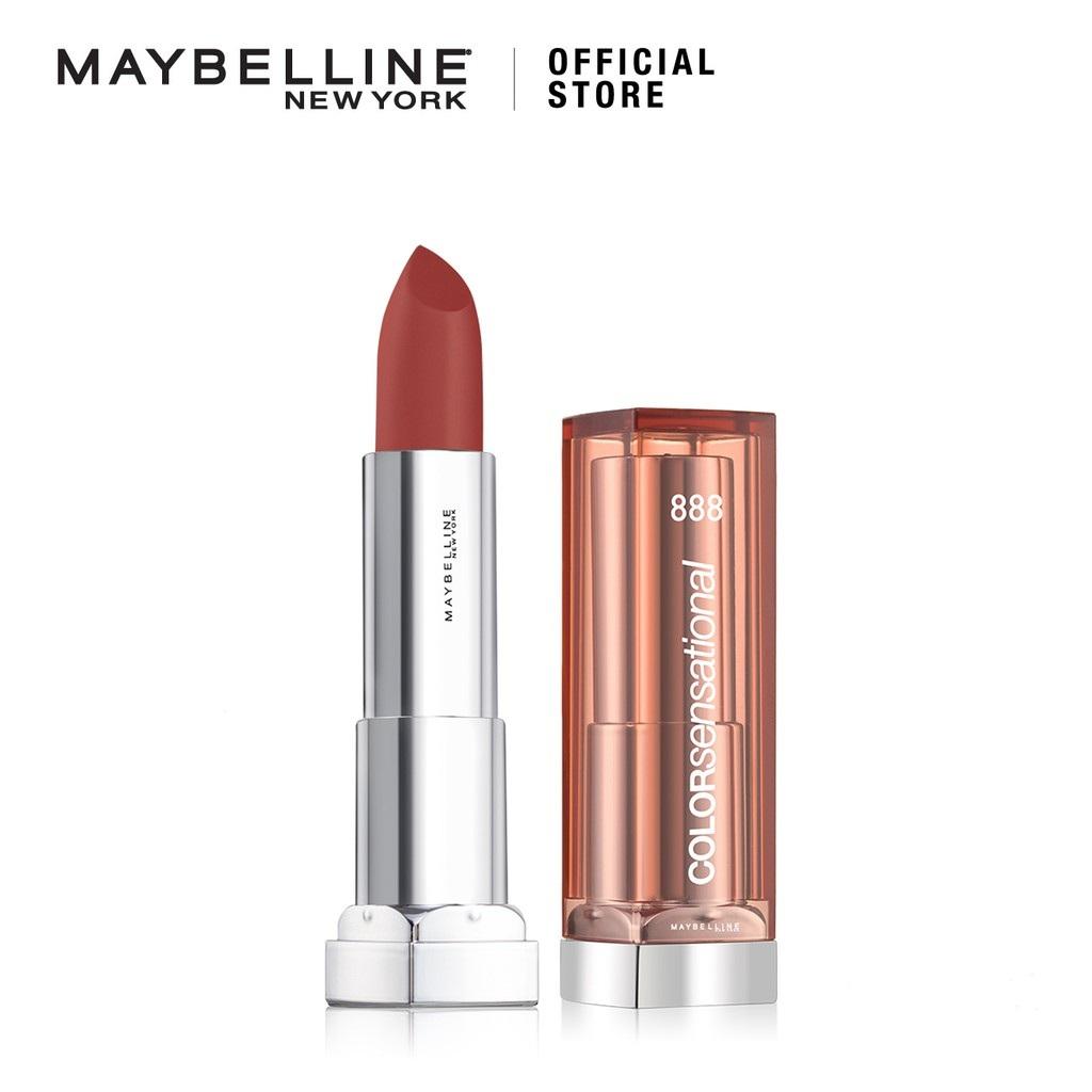 Maybelline Color Sensational Satin Lipstick Make Up 888 Thriller Nude