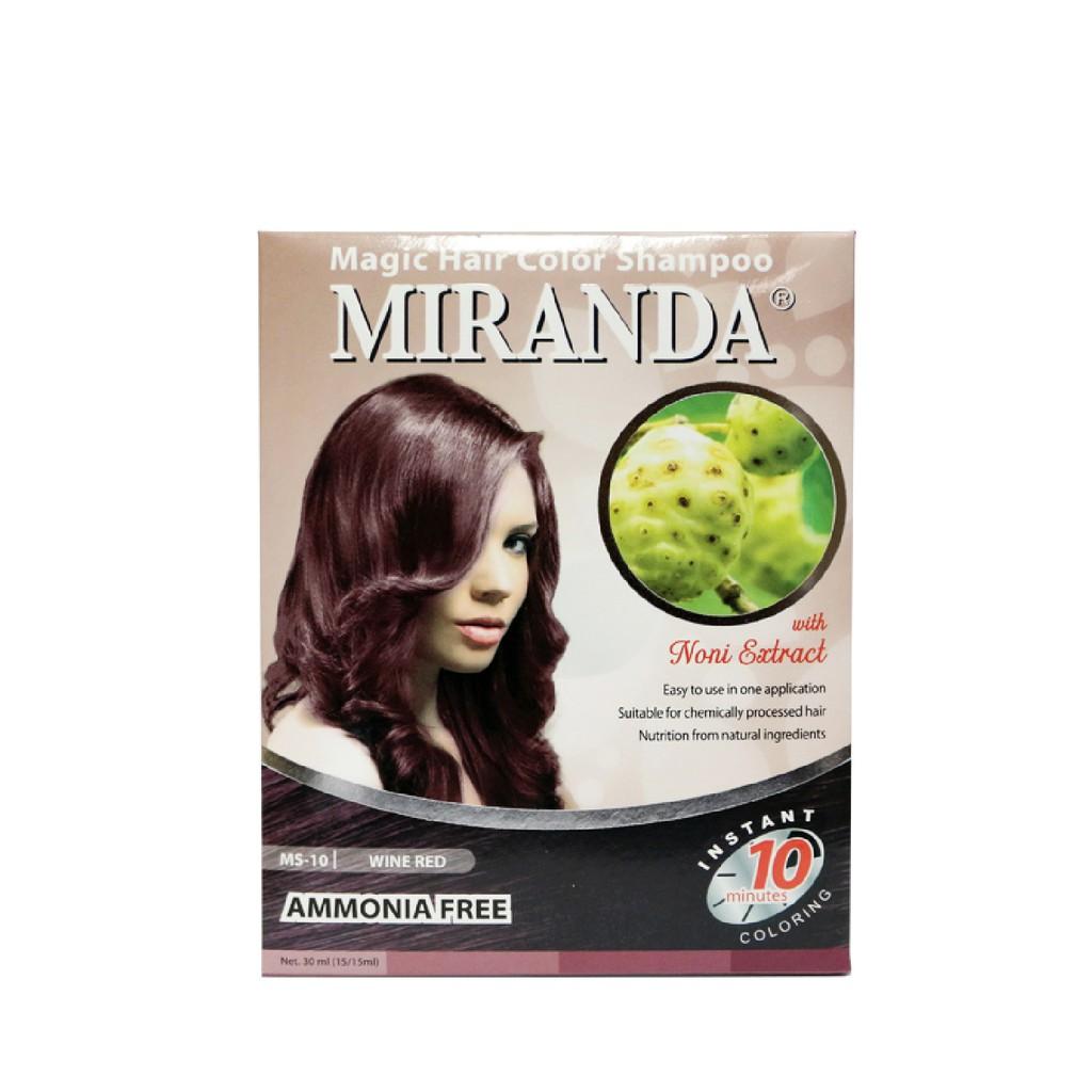 Miranda Color Shampoo MS-10 Wine Red 30ml