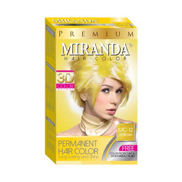 Miranda Hair Color MC-12 Yellow 30ml