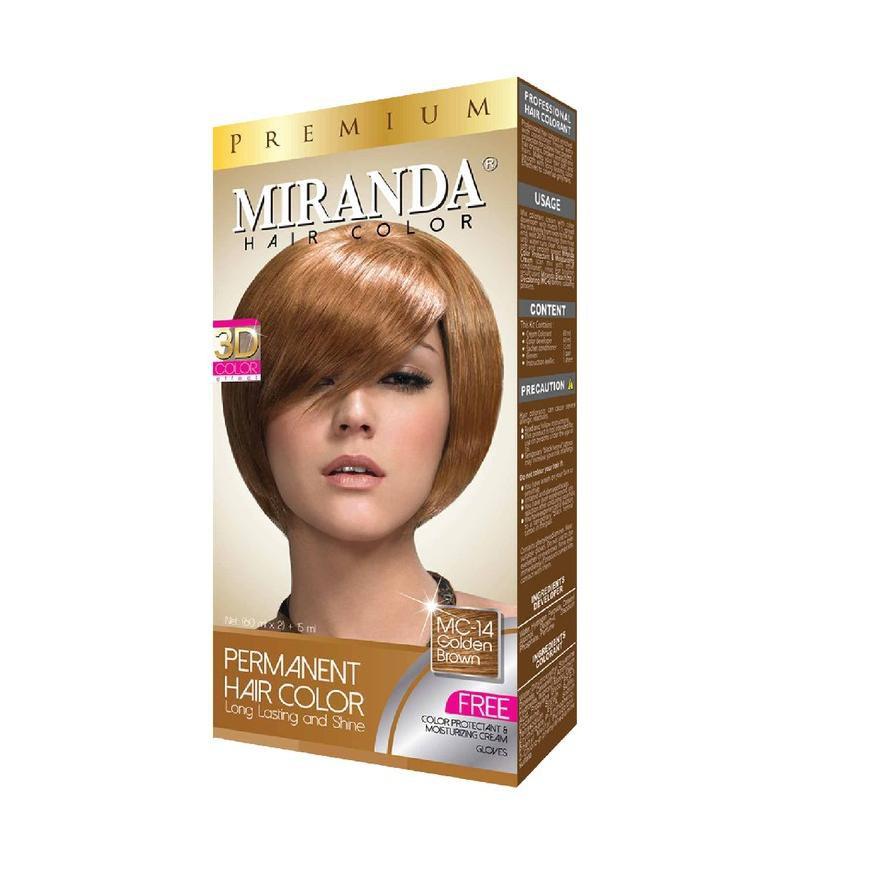 Miranda Hair Color MC-14 Golden Brown 30ml
