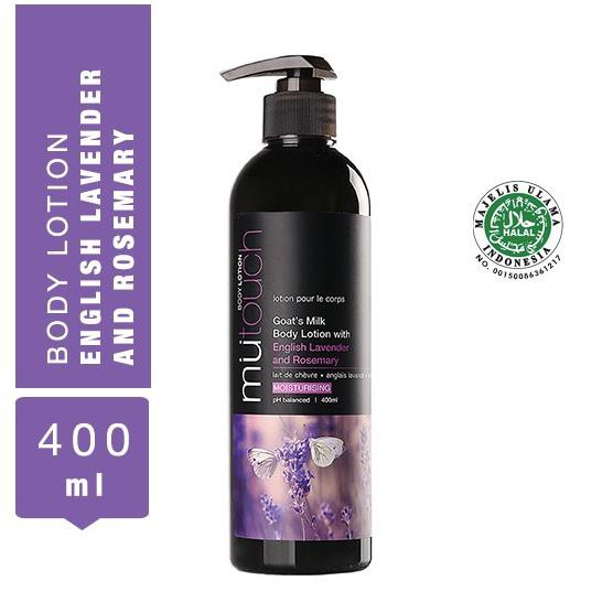 MuTouch Goat's Milk Body Lotion English Lavender and Rosemary 400ml