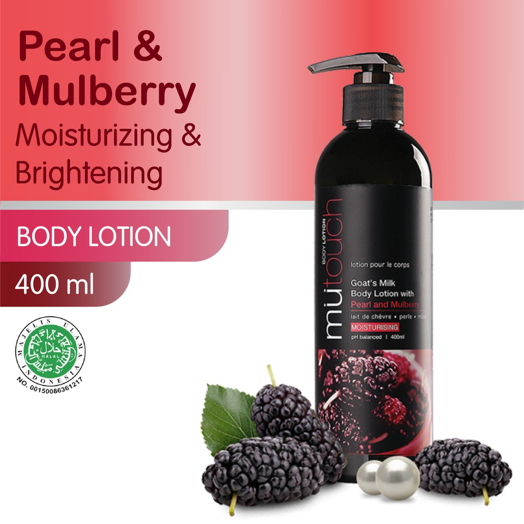 MuTouch Goat's Milk Body Lotion Pearl and Mulberry 400ml