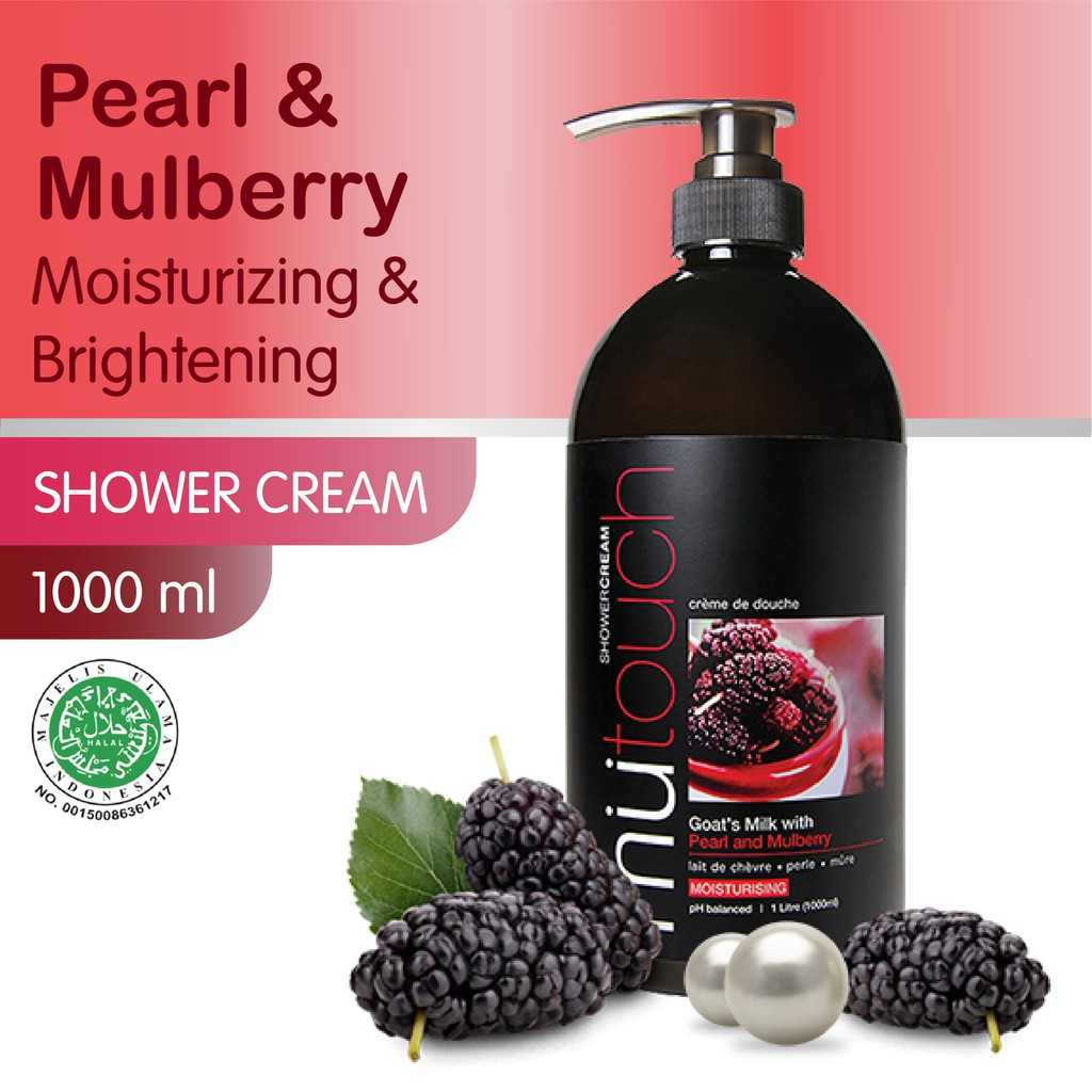MuTouch Goat's Milk Shower Cream Pearl and Mulberry 1000ml