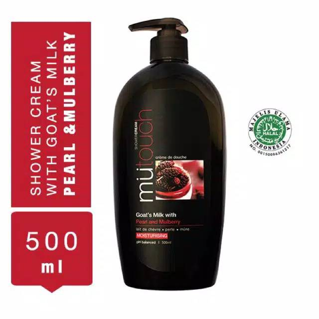 MuTouch Goat's Milk Shower Cream Pearl and Mulberry 500ml