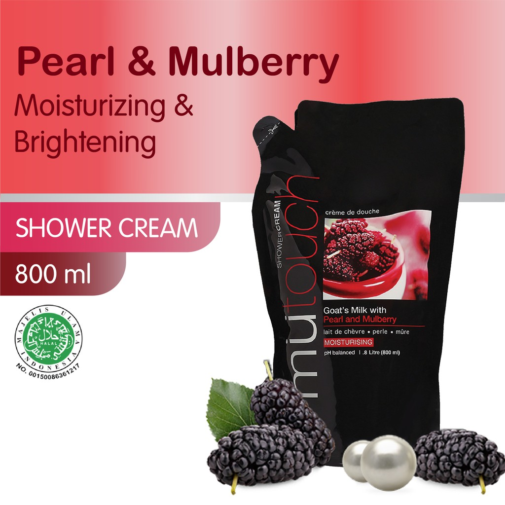 MuTouch Goat's Milk Shower Cream Pearl and Mulberry 800ml