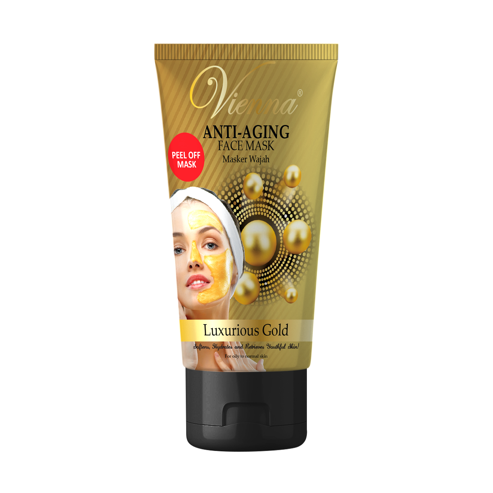 Vienna Anti Aging Face Mask Luxurious Gold 50g