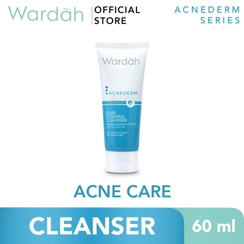 Wardah Acnederm Pure Foaming Cleanser 60ml