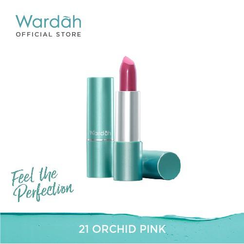 Wardah Exclusive Moist Lipstick 21 Orchid Pink 3.5 g