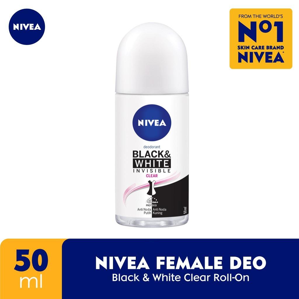 Nivea Deodorant Invisible Black & White Roll On 50ml