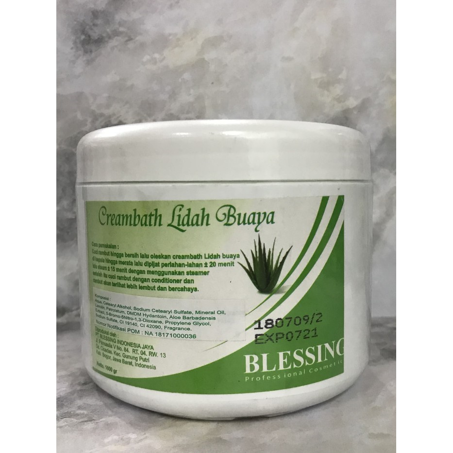 Blessing Creambath Lidah Buaya 1000g
