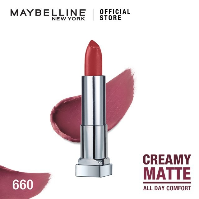 Maybelline Color Sensational Creamy Mattes Lipstick - 660 Touch Of Spice