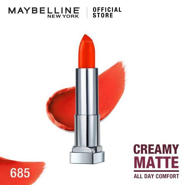 Maybelline Color Sensational Creamy Mattes Lipstick - 685 Craving Coral